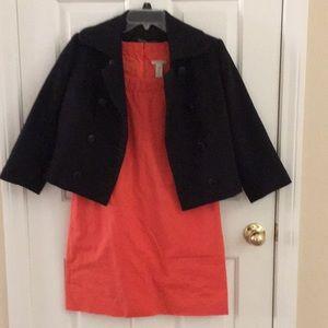 Coral J. Crew shift dress. Jackie Kennedy Chic